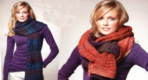 Как научиться вязать шарф спицами для начинающих