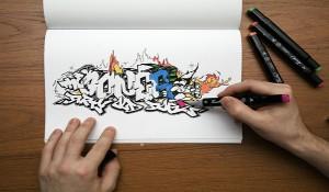 Как научится рисовать граффити на бумаге карандашом