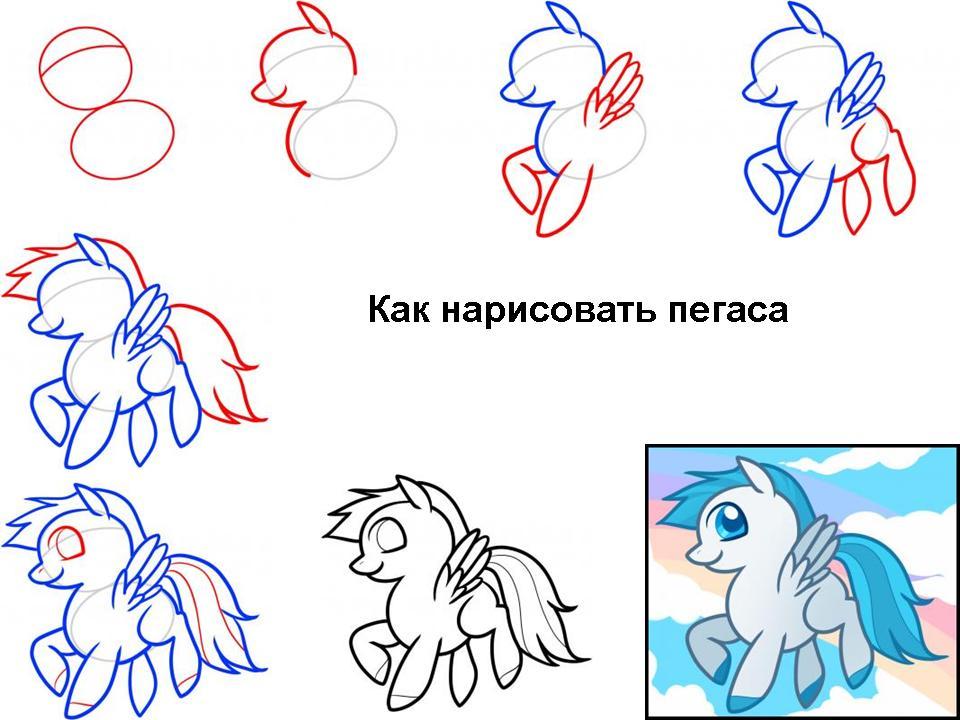 Как научиться рисовать пегаса