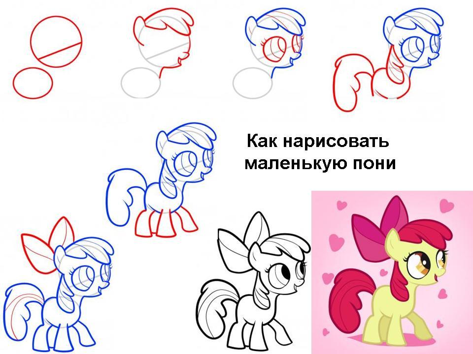 как рисовать пони картинки