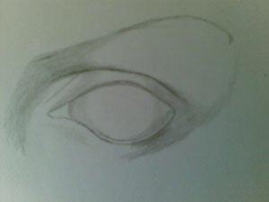 Как передать выпуклости глаза на бумаге
