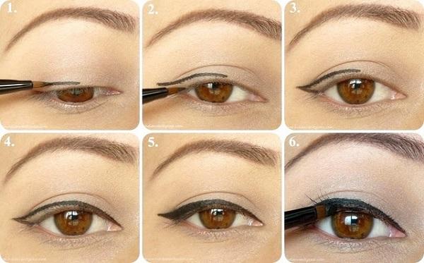 Как рисовать стрелки на глазах?