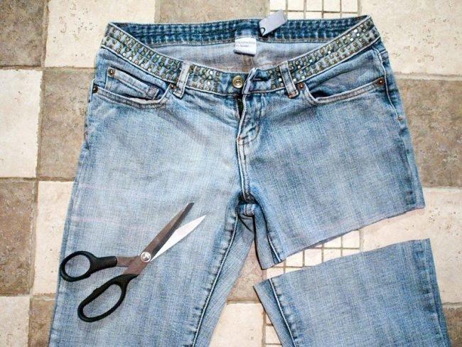 Как из джинс сделать шорты?