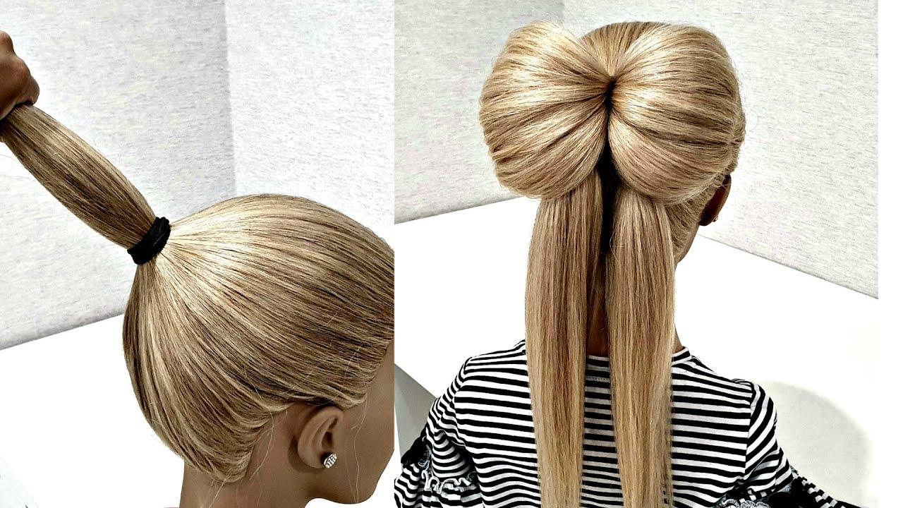 Как сделать из волос бантик?