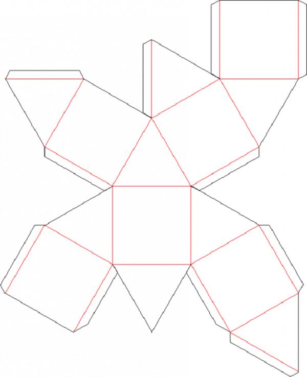 Как сделать Октаэдр из бумаги