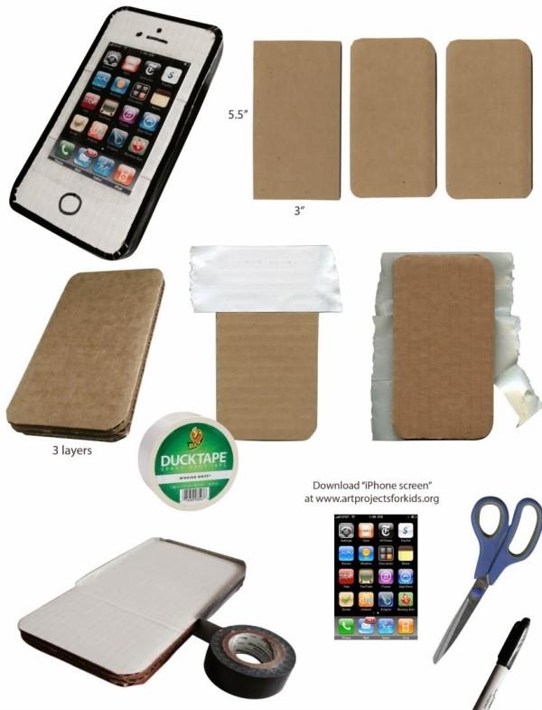 Как сделать из бумаги для телефона