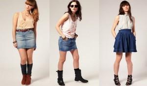 Как сделать юбку из джинсов?