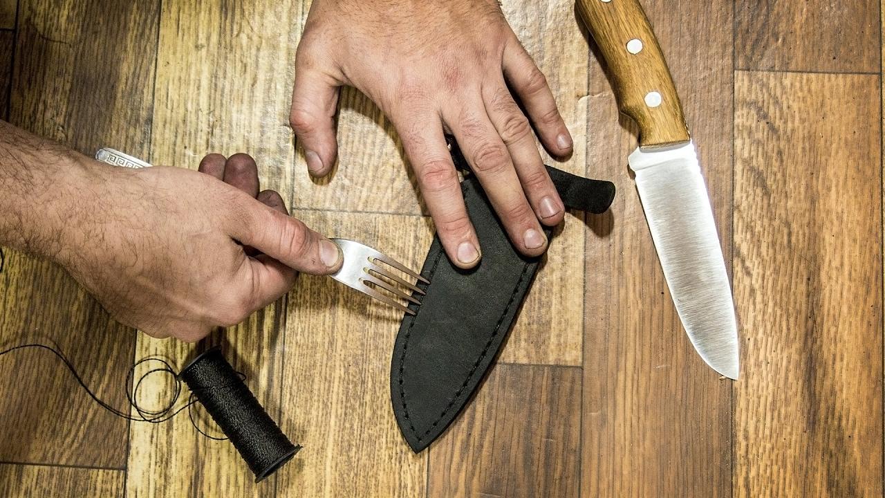 Как сделать ножны для ножа?
