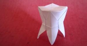 Как сделать из бумаги зубы?
