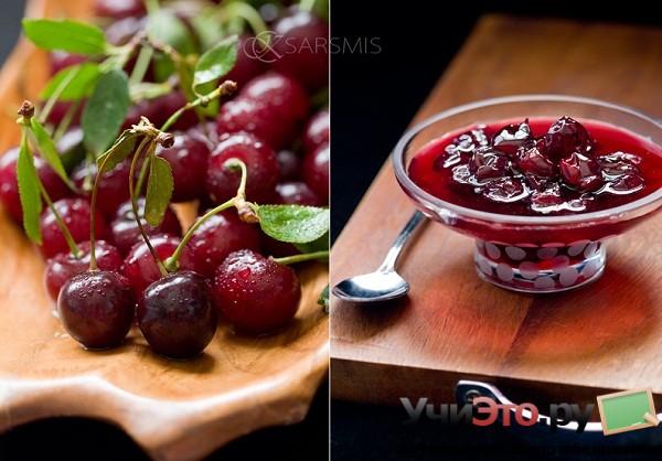 Как варить очень густое вишневое варенье с косточками?