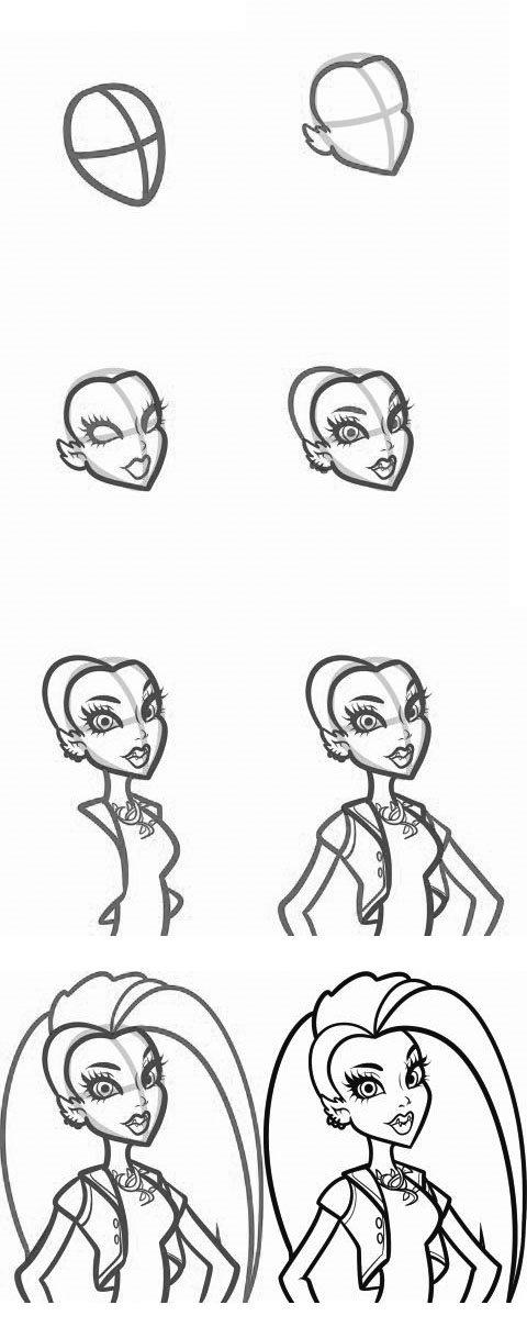 Как научиться рисовать Монстер Хай: Венеру МакФлайтреп