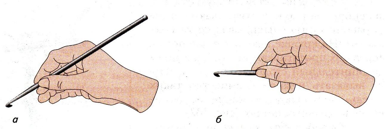 Как держать крючок