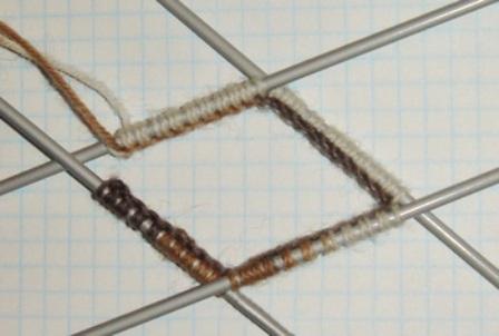 Вязание резинки носка спицами
