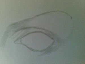 Как сделать набросок глаза?