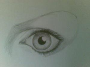 Как правильно нарисовать угол глаза