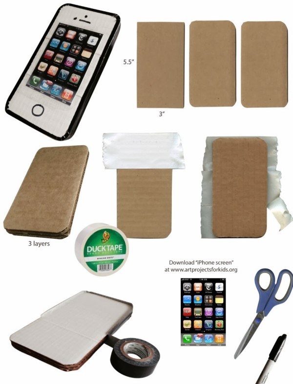 Как сделать своими руками телефон iPhone 4 (3D модель)
