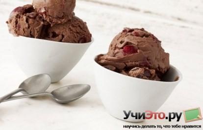 Как сделать шоколадное мороженое с вишней в домашних условиях